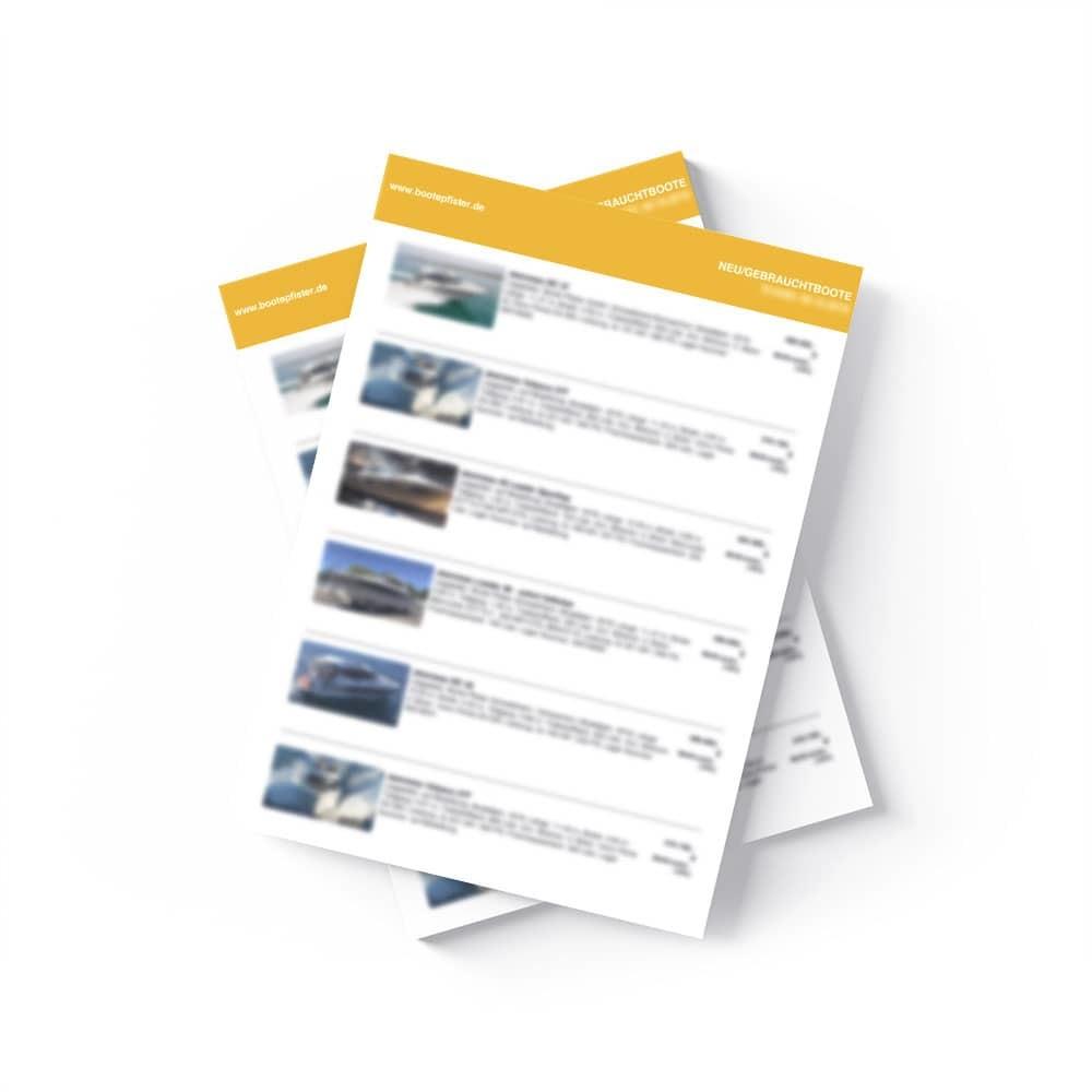 Neu- / Gebrauchtboote - Aktuelle Liste