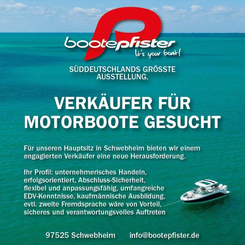 Verkäufer für Motorboote gesucht